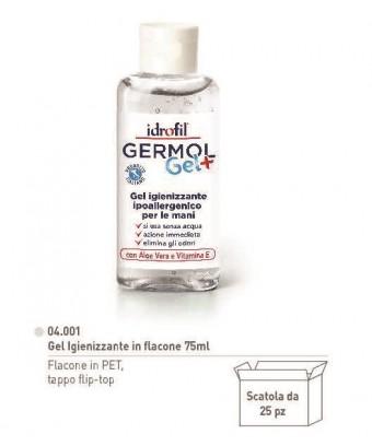 Germol Gel igienizzante in flacone 75 ml Tappo flip top - pezzi 25