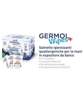 Germol Wipes salvietta igienizzante In espositore da 100 pezzi - CT 8*100 pezzi
